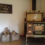 Chêne - Chauffage au bois - cuisine salon